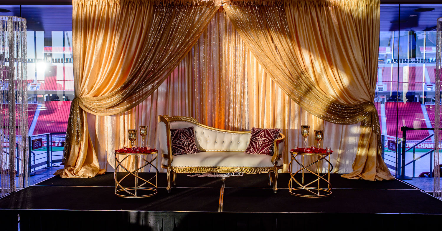 Indian wedding repletion decor by SB Arts