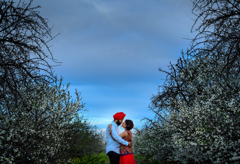 San Jose spring engagement session