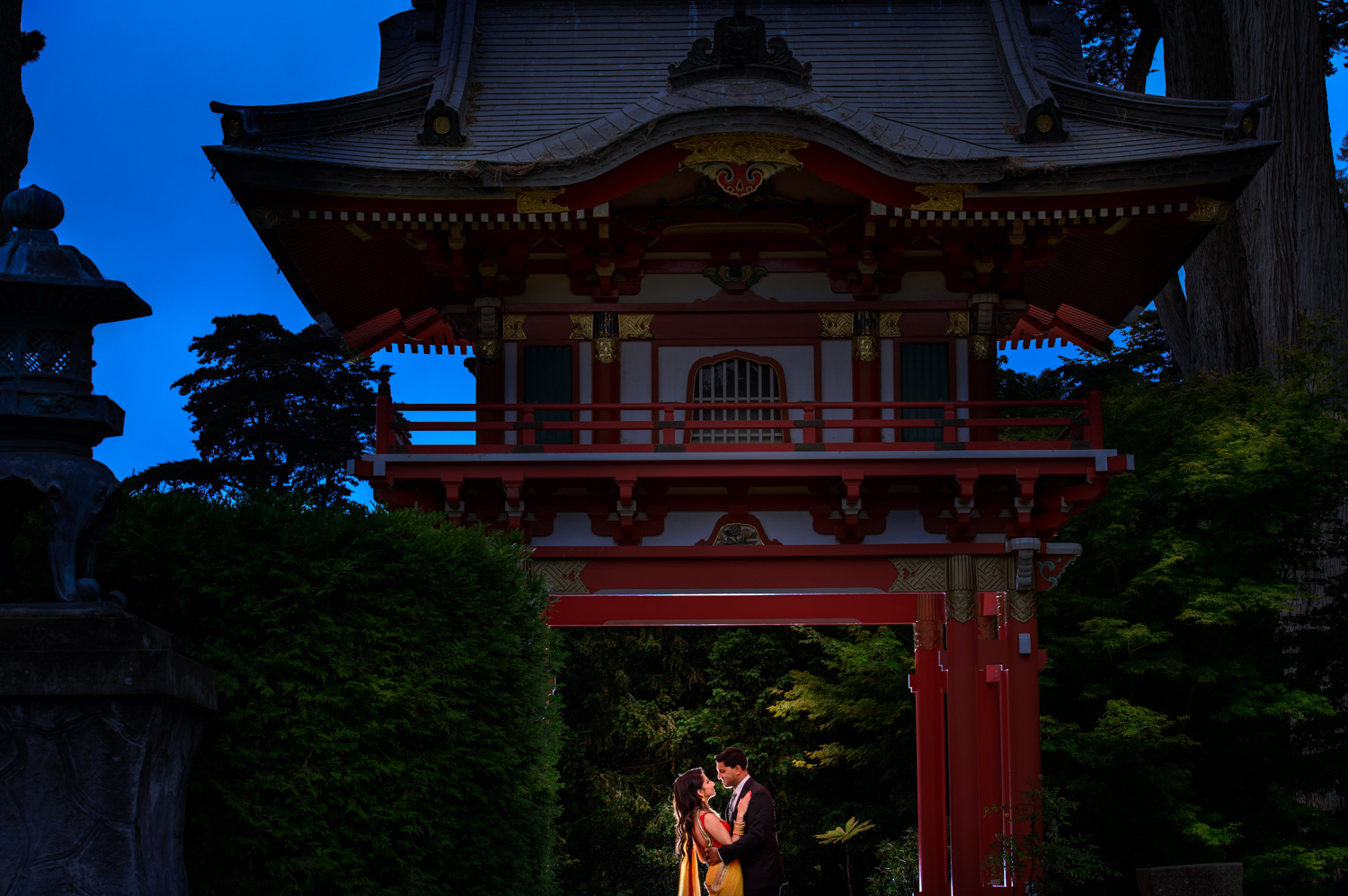 Japanese Tea Garden Indian engagement session