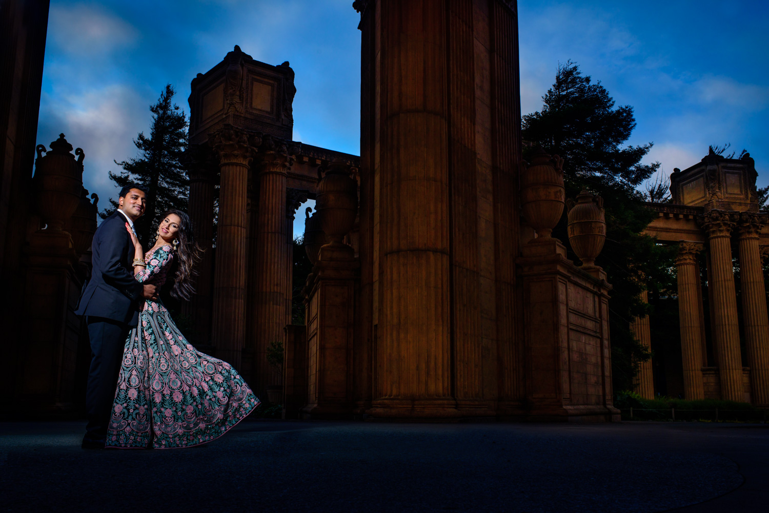Palace of fine Arts Indian engagement session