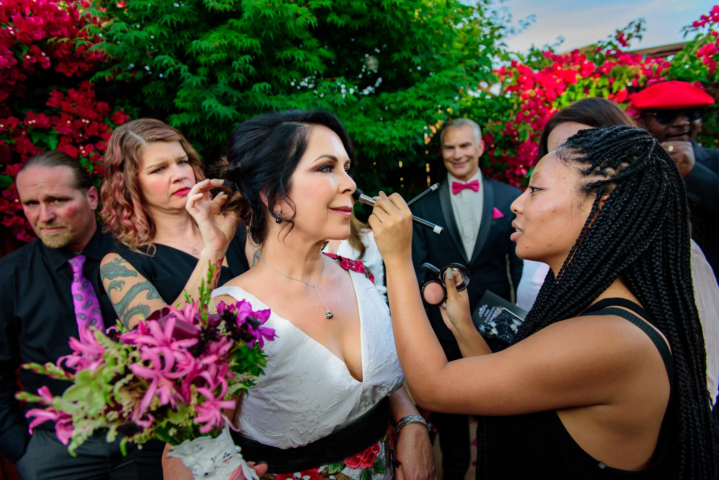Intimate backyard bay area wedding