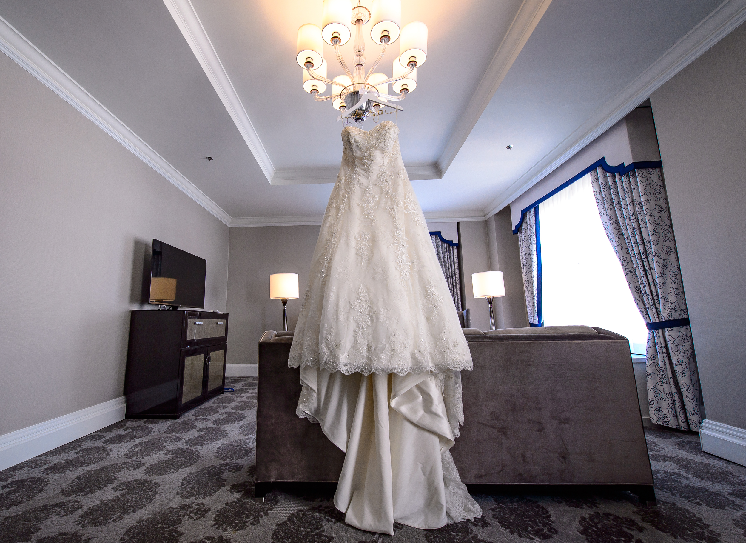 Wedding dress Fairmont San Francisco