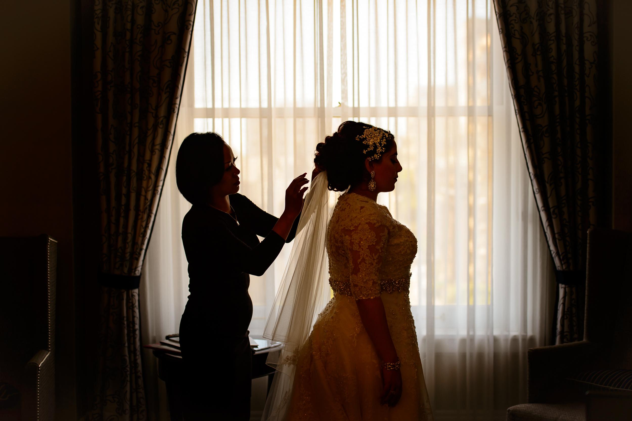 Bride getting ready Fairmont San Francisco
