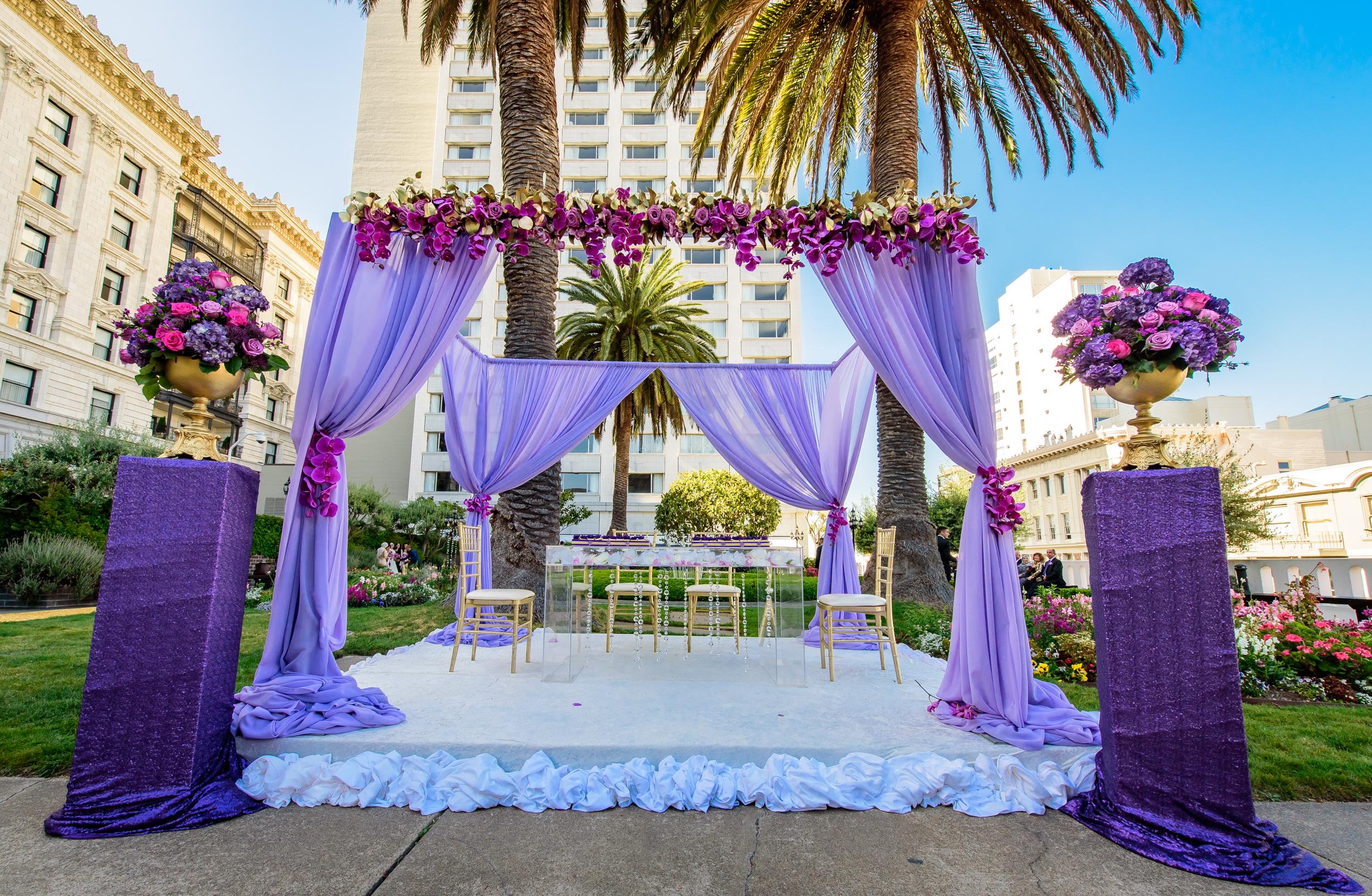 Wedding decor Fairmont San Francisco