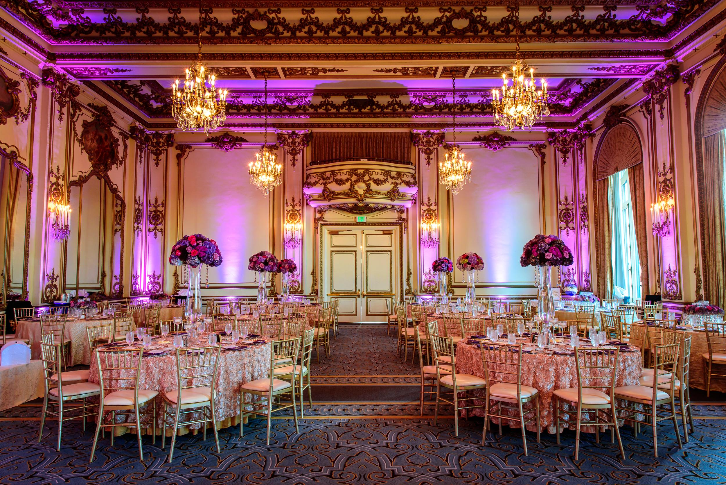 reception decor by Shakor Decor Fairmont San Francisco