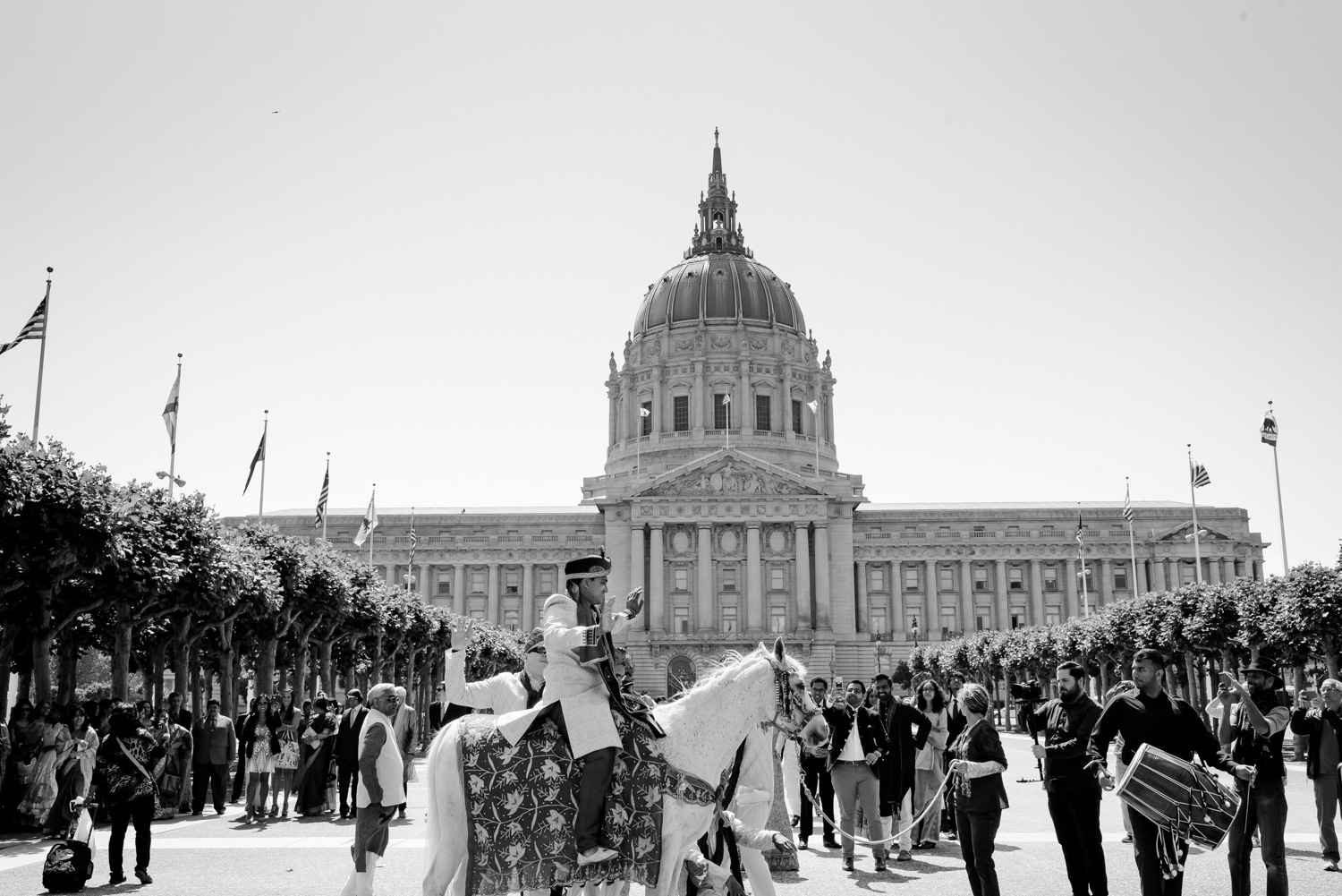 baraat at San Francisco City Hall