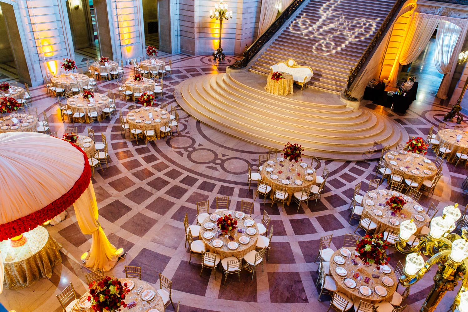wedding reception decor by Avant Planners