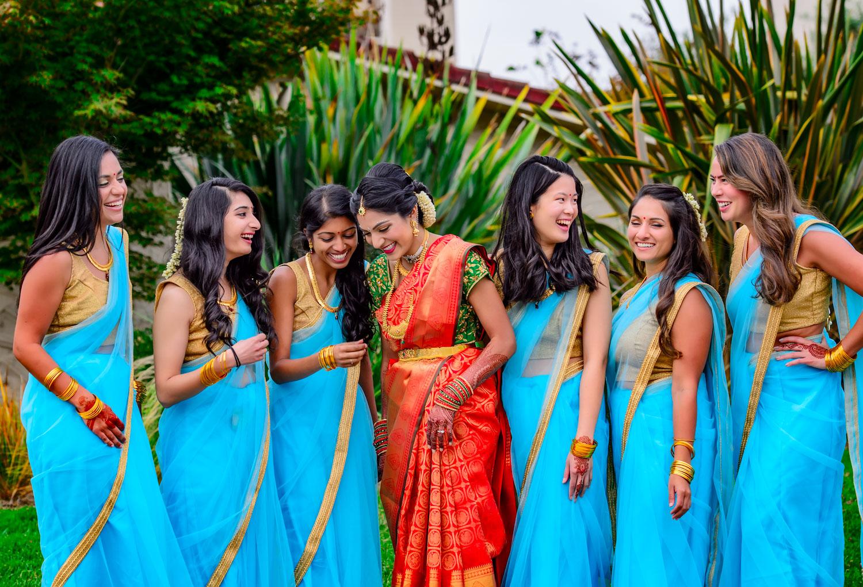 Indian bridesmaid saree