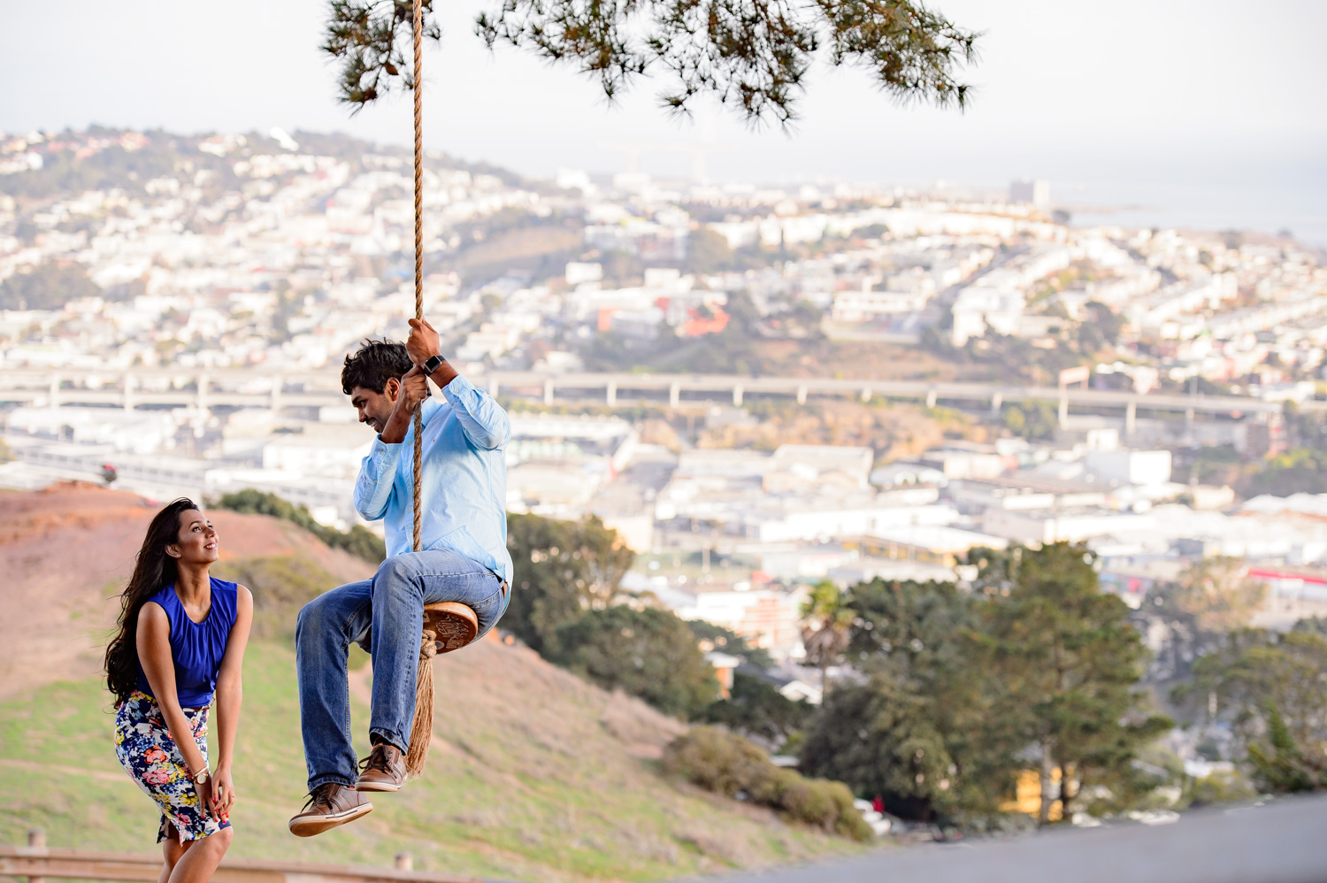 San Francisco Indian engagement shoot