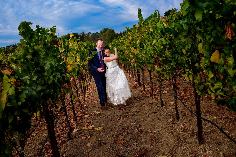 De Loach Santa Rosa winery wedding