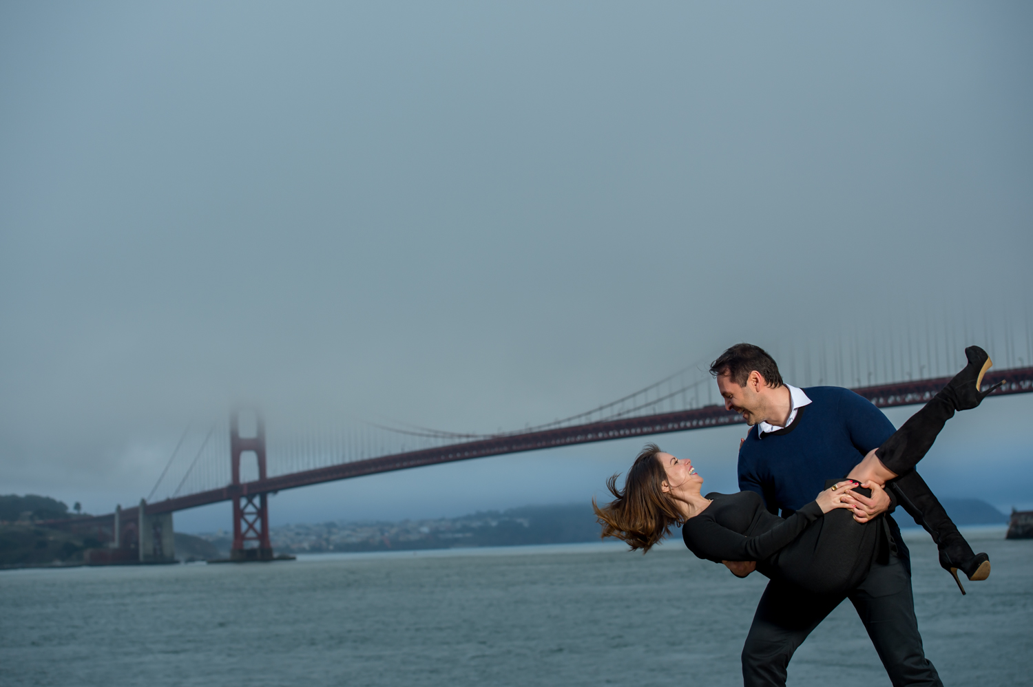 Golden Gate Bridge San Francisco Engagement shoot