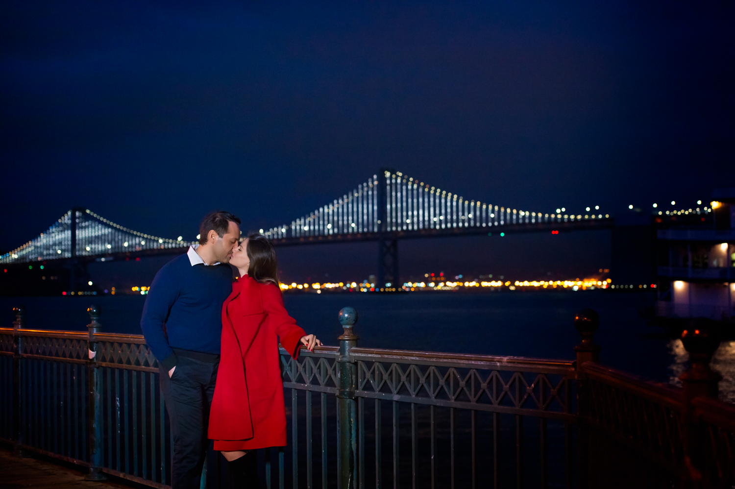 Bay Bridge San Francisco Engagement shoot