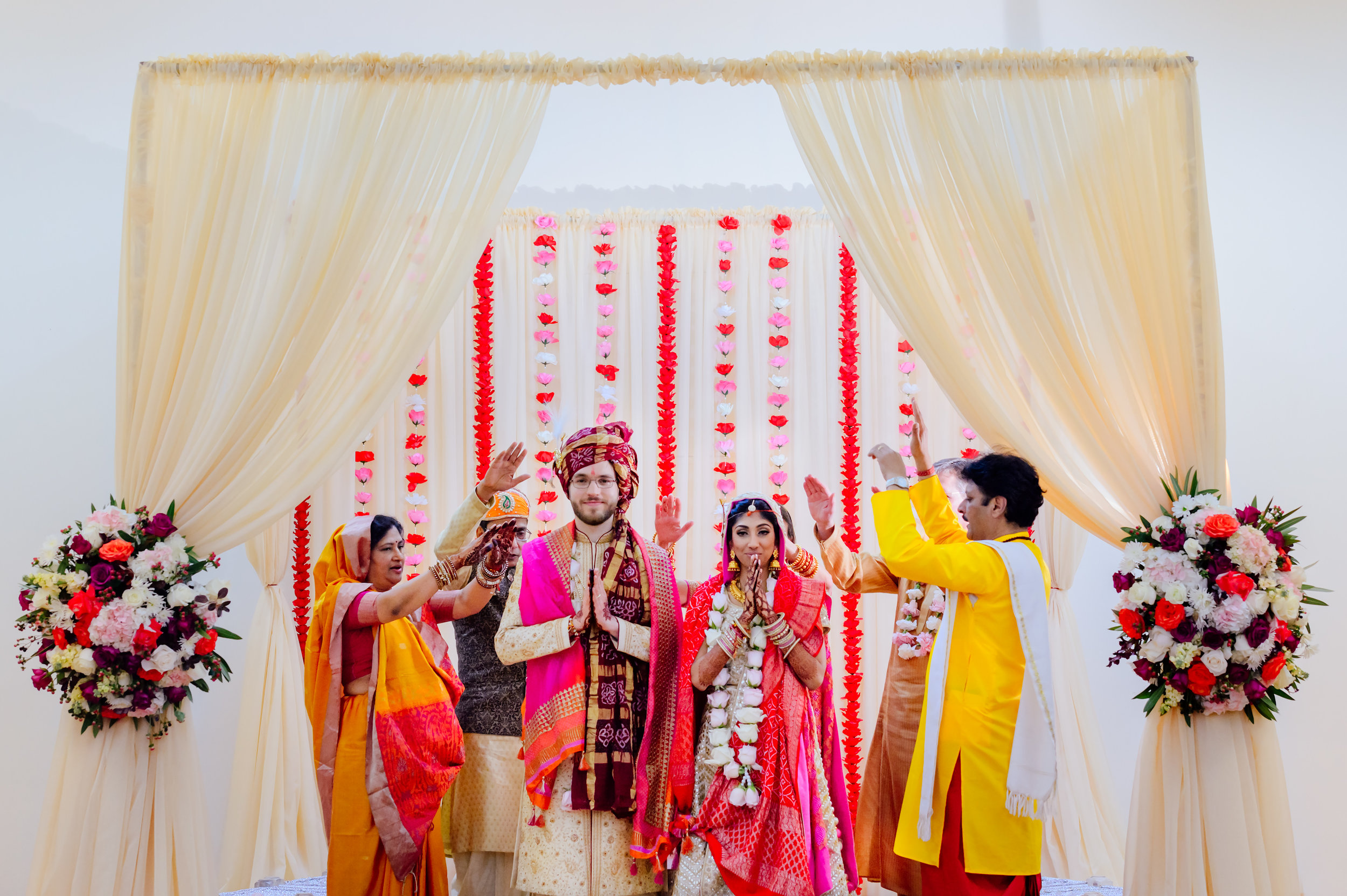 Indian Hindu fusion wedding Quinlan Community Center