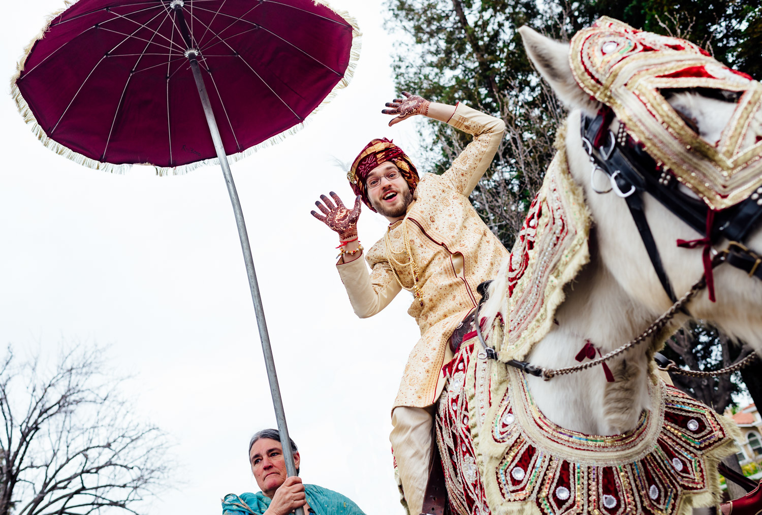 San Francisco Bay area Indian wedding baraat