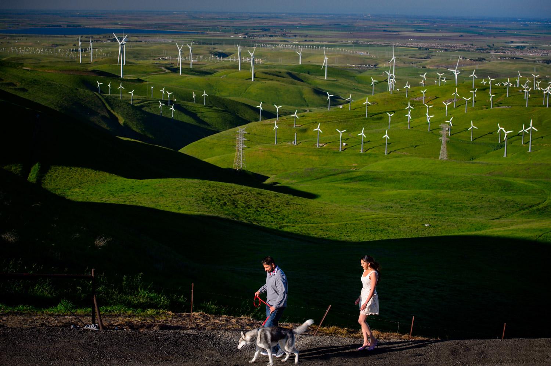 Indian Engagement session Altamont Pass Wind Farm