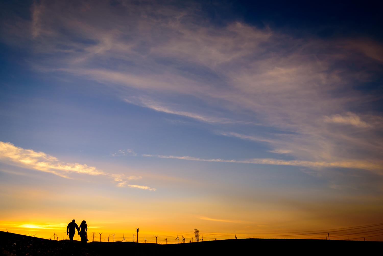 Indian Engagement shoot Altamont Pass Wind Farm