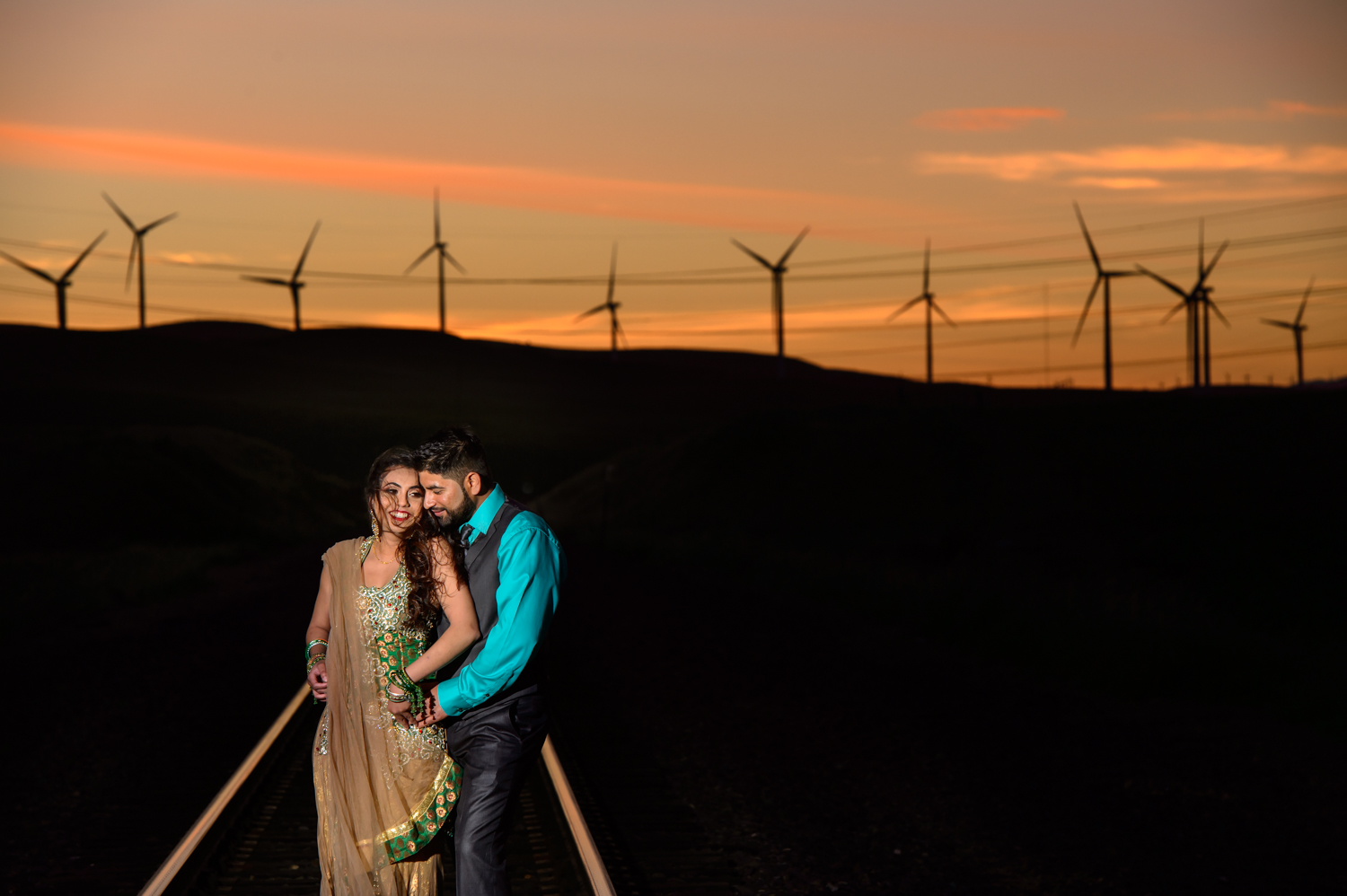 Indian Engagement session Altamont Pass Livermore