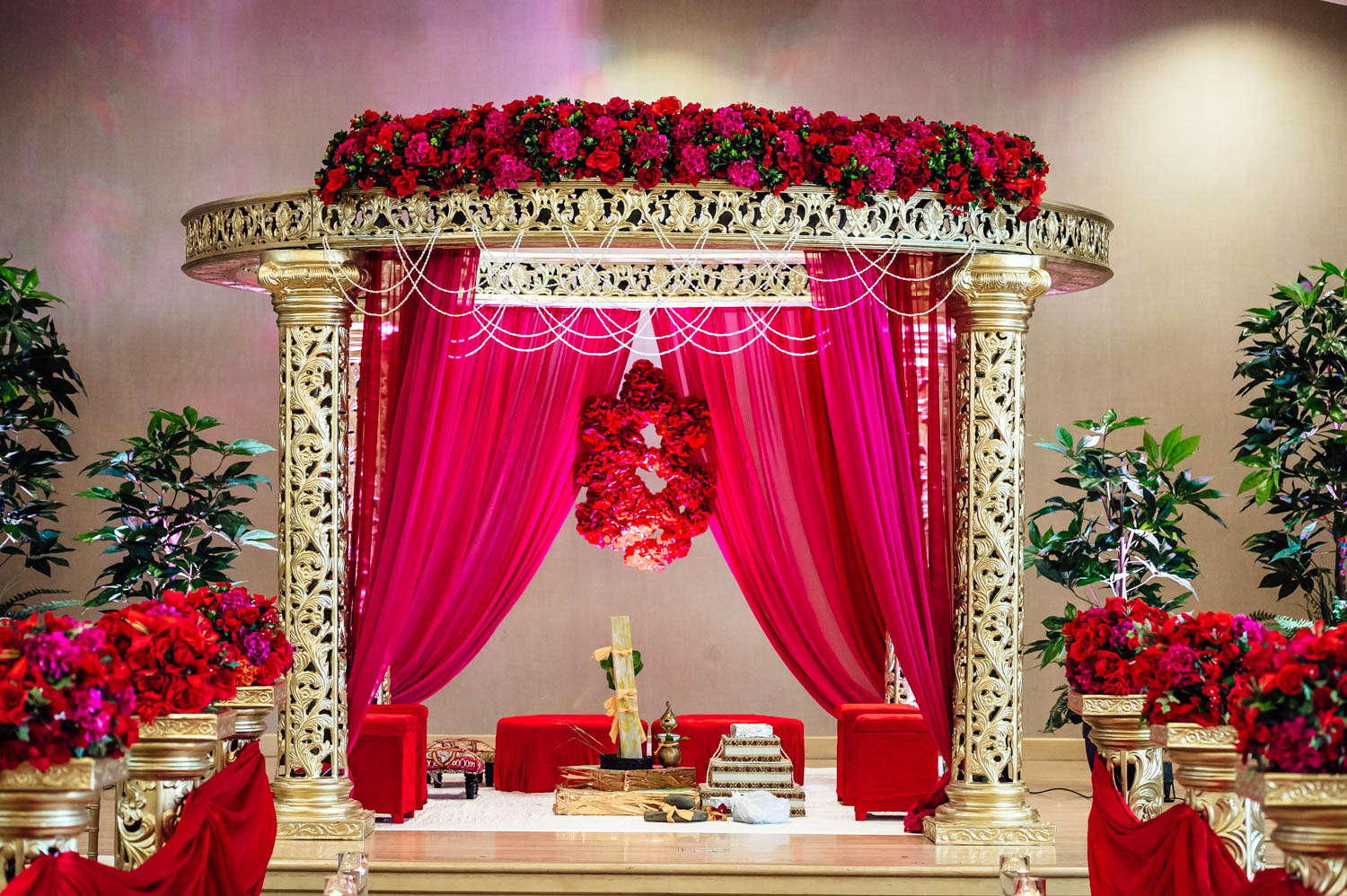 Indian Wedding Mandap by i Design Events
