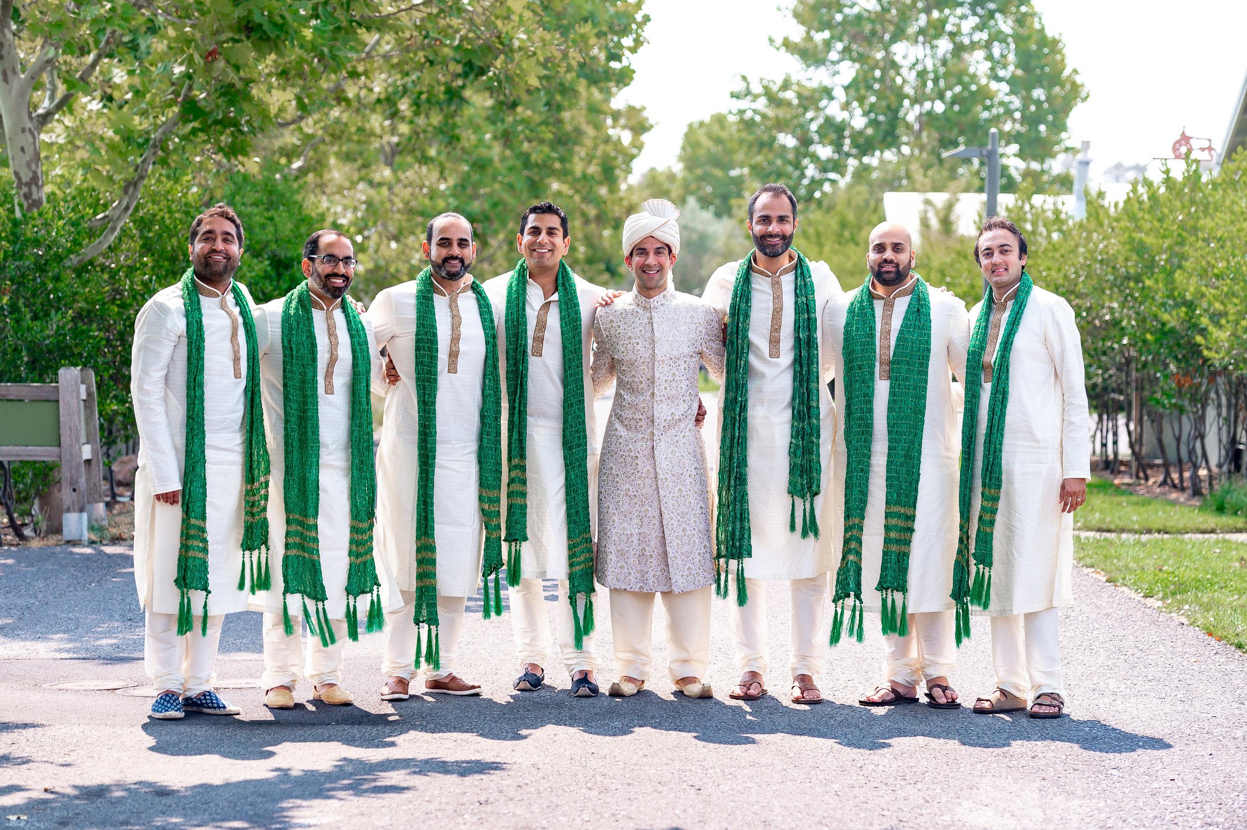 Indian groomsmen