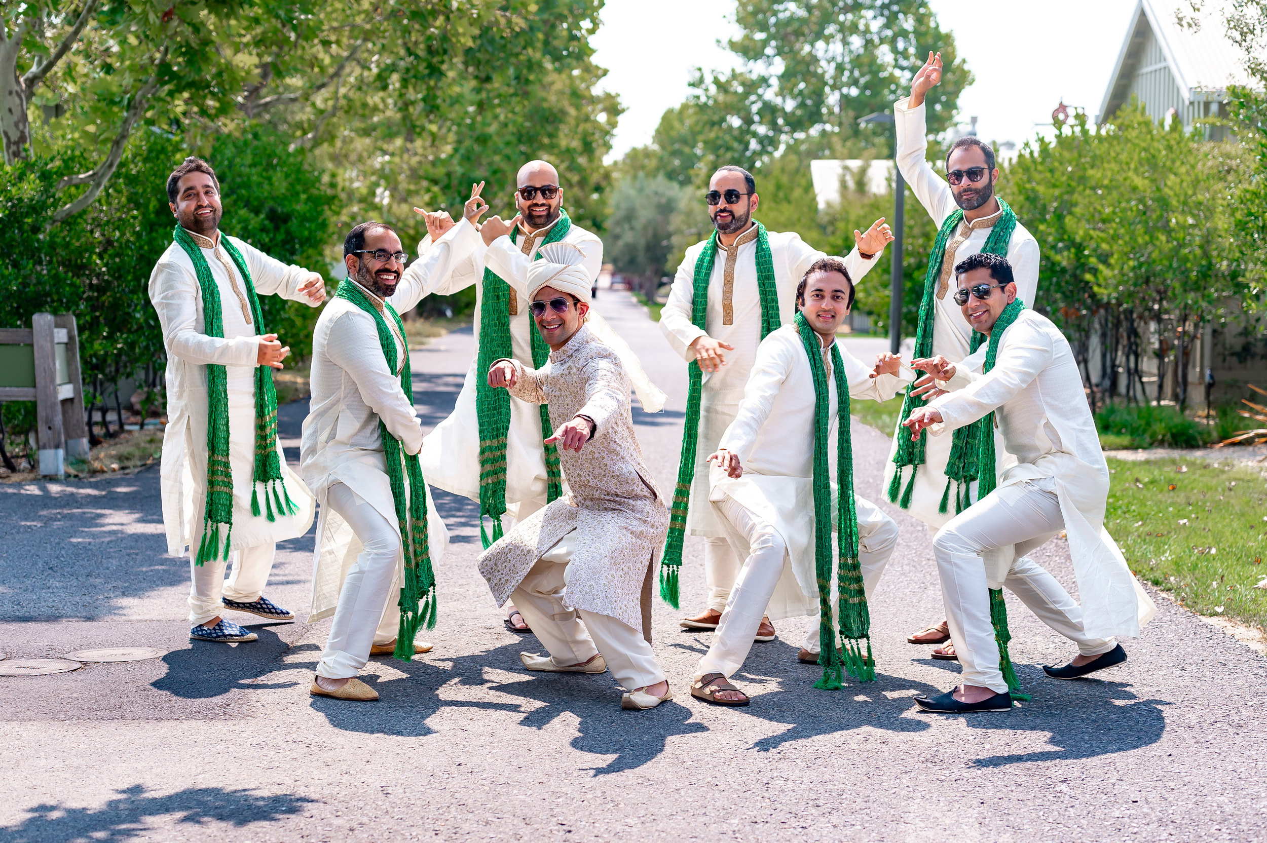 Indian groomsmen Nap Indian wedding