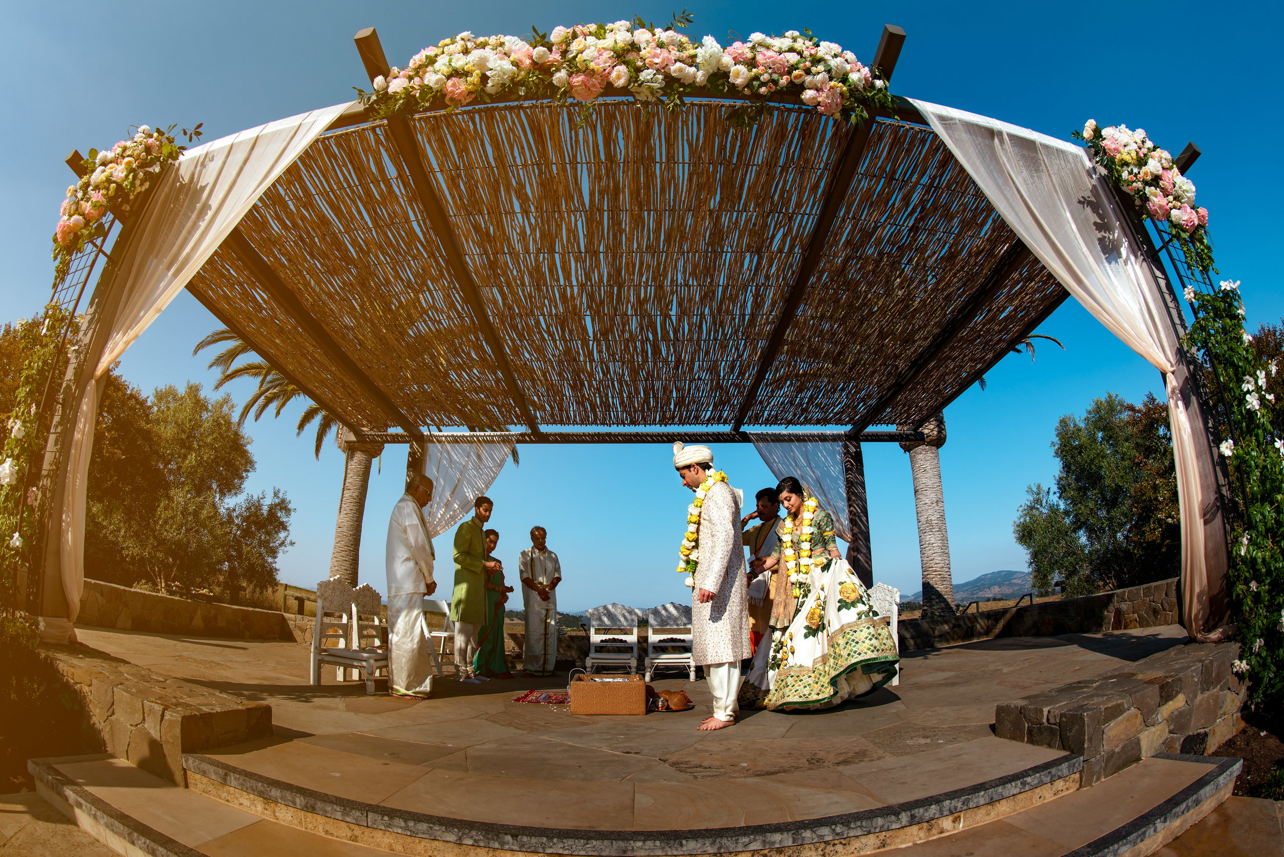 Carneros Resort Napa Indian wedding