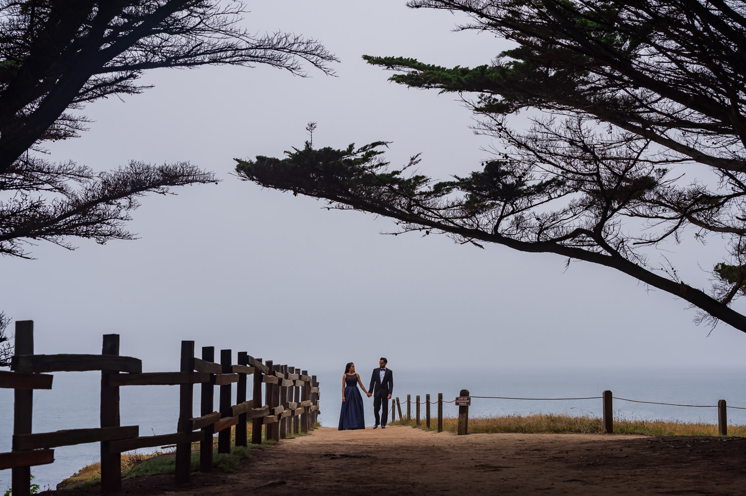 Half Moon Bay engagement photography