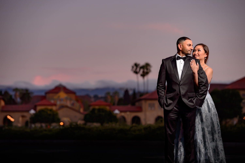 Stanford University Palo Alto Engagement Couple Shoot