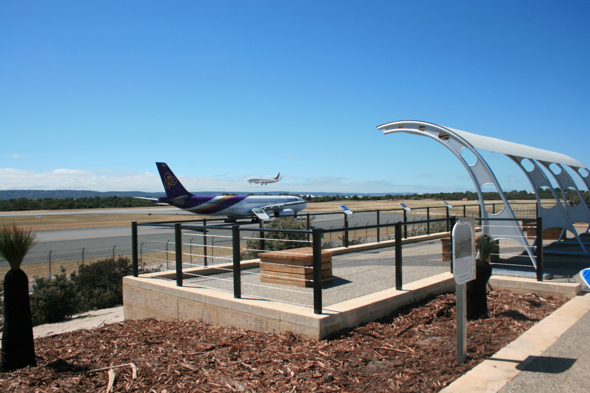 The airport observation deck