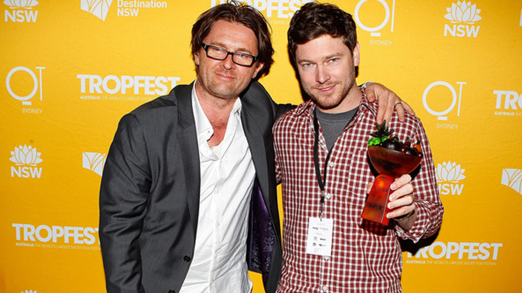 Tropfest founder John Polson and 2013 winner Nick Clifford.