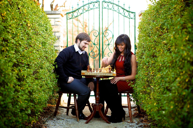 chess game, hedge maze, Winterset, Iowa, Alice in Wonderland