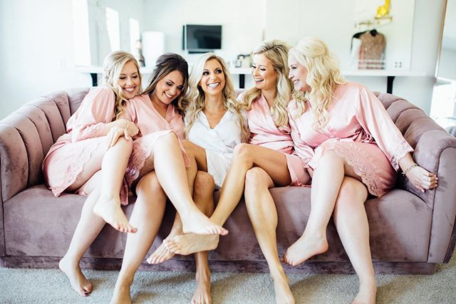 I have been known to experience major FOMO when shooting weddings. There have definitely been groups of girls that I would much rather be friends with than be photographing 😂 These ladies had a blast at @rinaterk and Shawn's wedding. I want this robe. I want a mimosa. I want these friends 😂🤷🏻♀️ . .  Venue: @thehuttonhouse  Photo and Video: @oneonecreatives (🙋🏻♀️🙋🏻♂️) Floral: @pepperpenndesignhouse  DJ: @milkmajer with @instantrequestdj  Dress: @chebellaboutique  Makeup: @sm.hairandmakeup