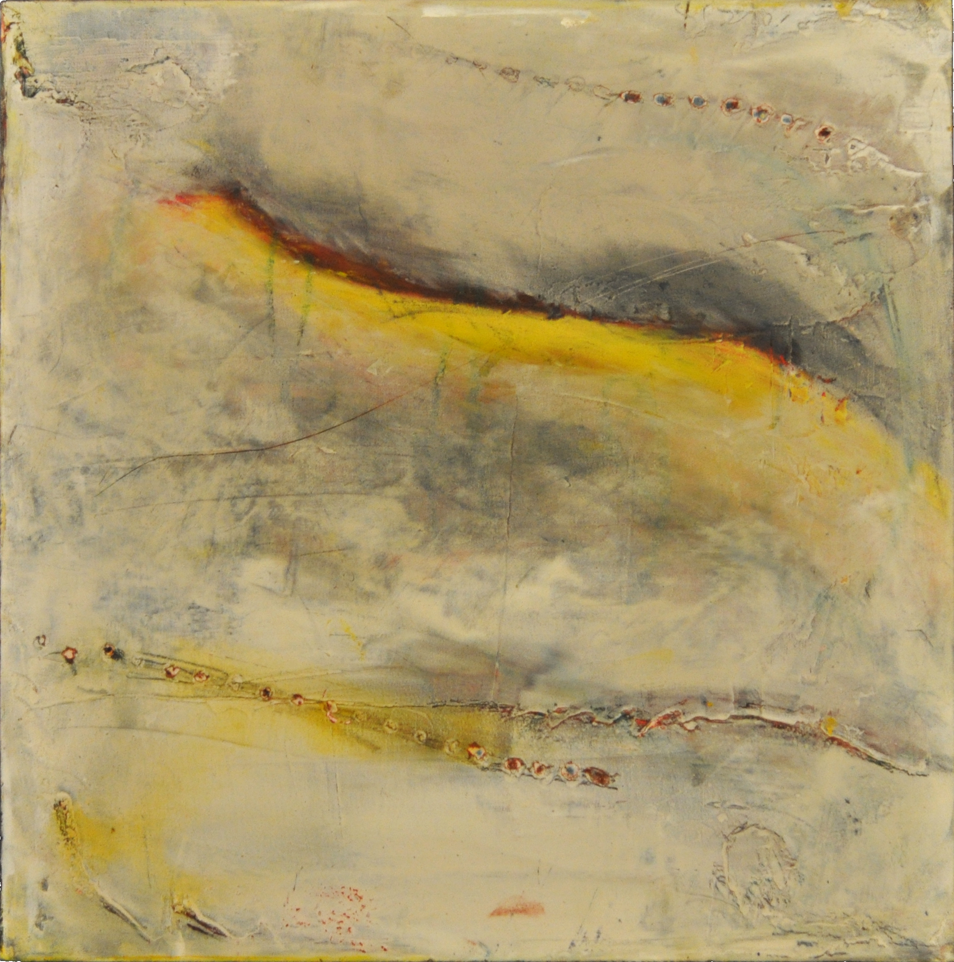 threadbare   oil and cold wax 10 x 10 inches 2014