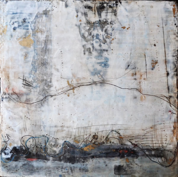 the path taken   encaustic mixed media 24 x 24 inches 2014