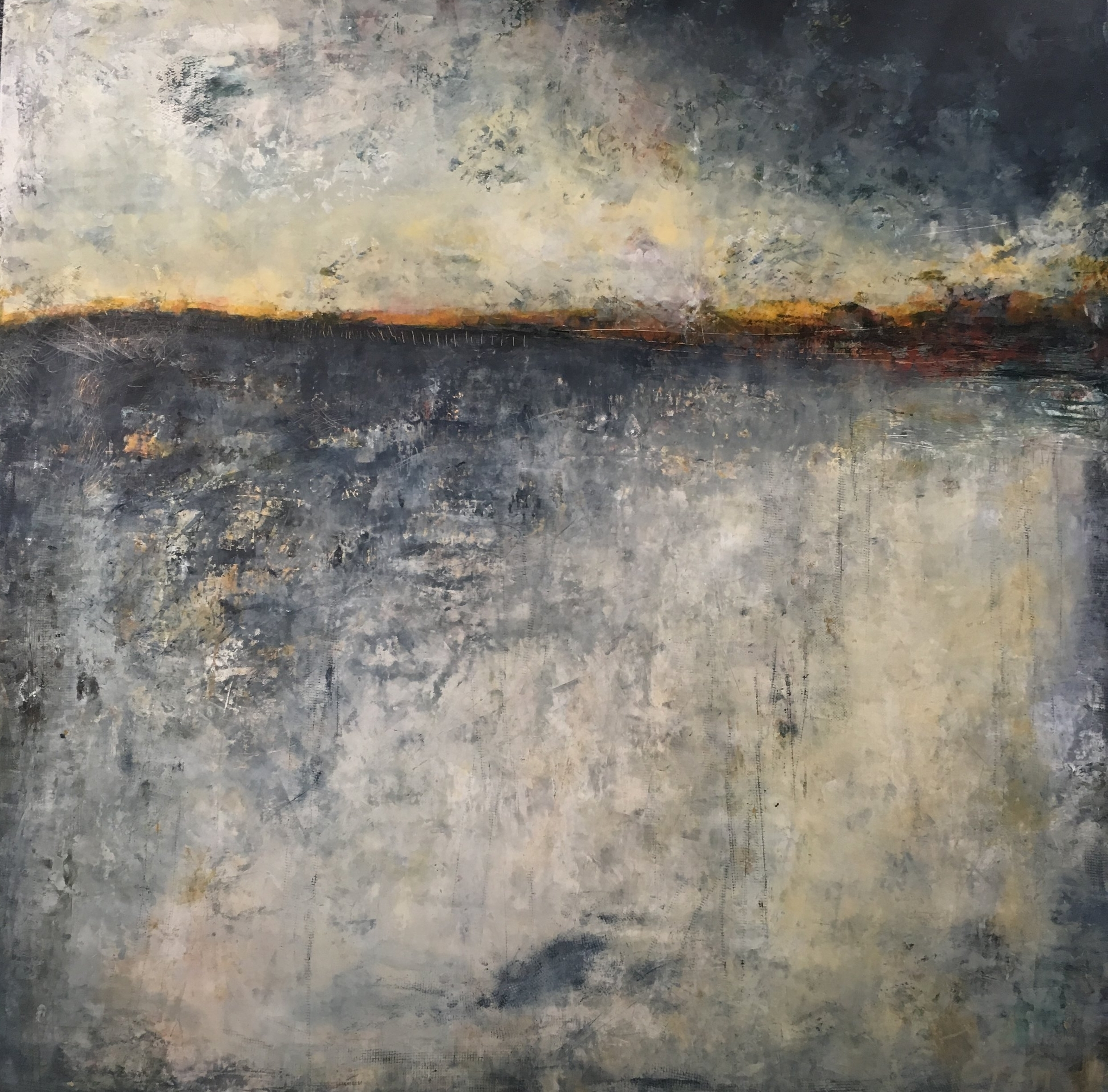 hope   48 x 48 inches oil + cold wax