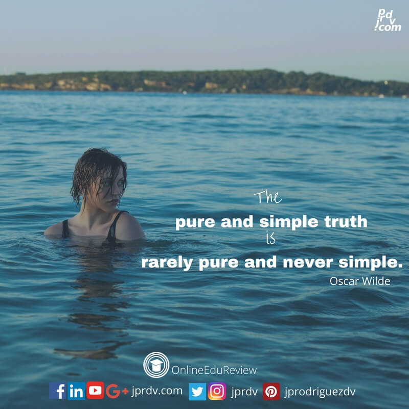 the purse and simple truth is rarely pure and never simple oscar wilde
