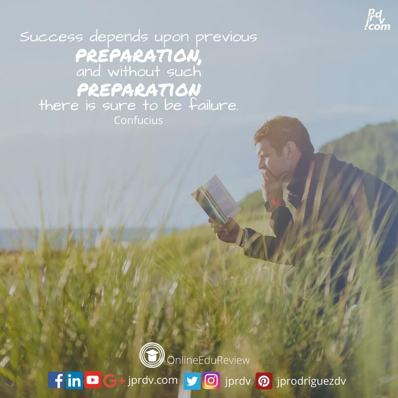 success depends upon previous preparation and without such preparation there is sure to be failure confucius