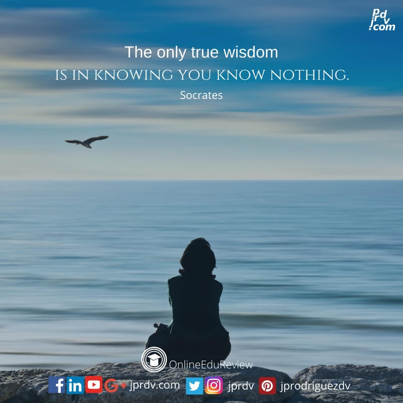 the only true wisdom is in knowing you know nothing socrates