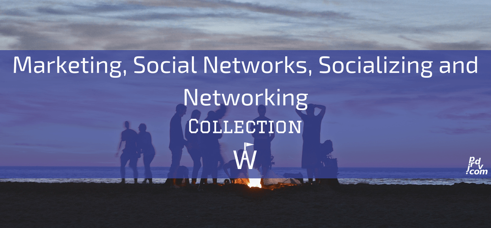 Marketing, Social Networks, Socializing and Networking Workavel Collection