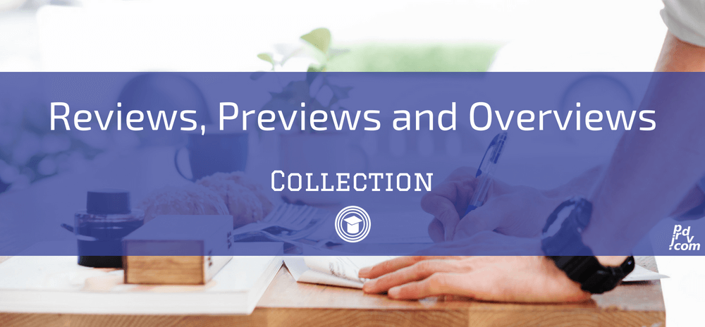 Reviews, Previews and Overviews OnlineEduReview Collection