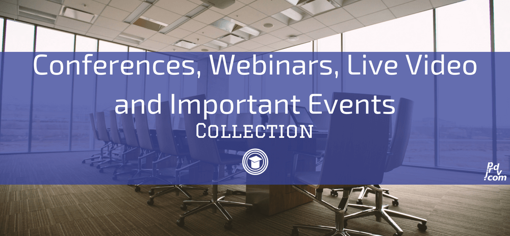Conferences, Webinars, Live Video and Important Events OnlineEduReview Collection