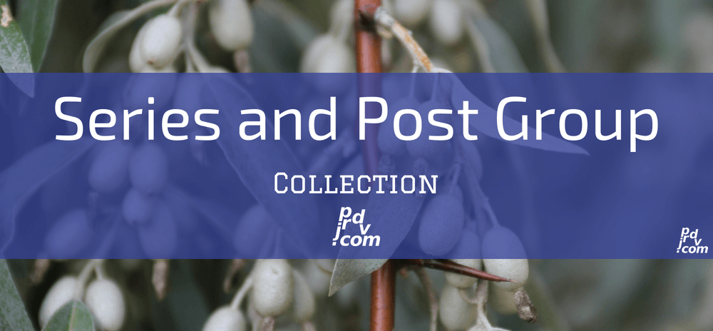 Series and Post Groups Site Collection