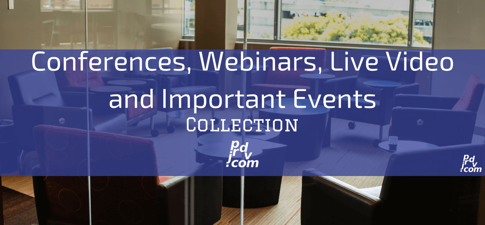 Conferences, Webinars, Live Video and Important Events Site Collection