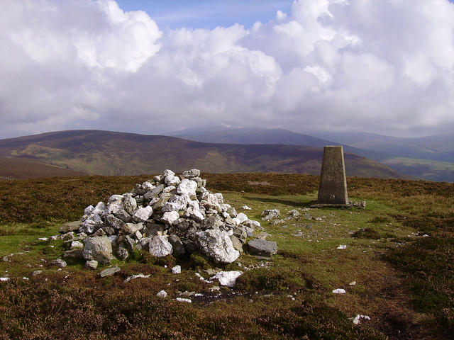 Slieay Ruy summit cairn - checkpoint 2 in the senior race