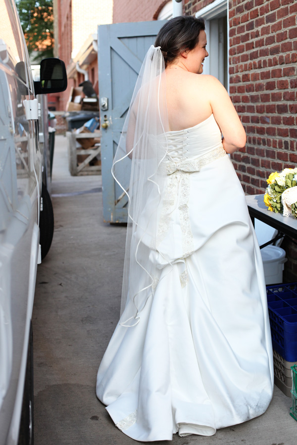 This is hilarious! I bustled her in an alley, behind the venue. ;) Hey. It's hard to find a private moment!