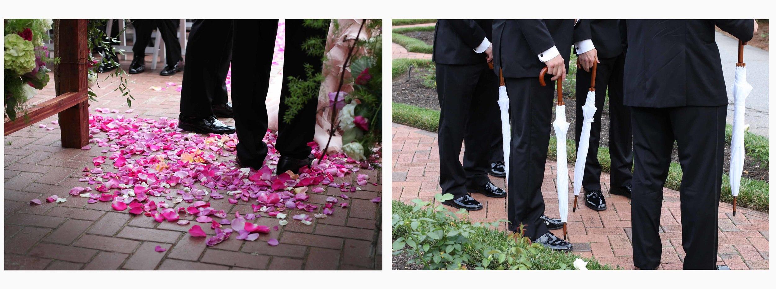 The groomsmen sported white Biltmore umbrellas.