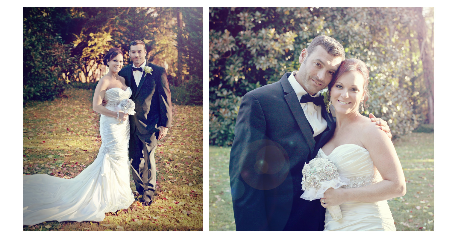 What a gorgeous couple on a beautifully lit fall day!