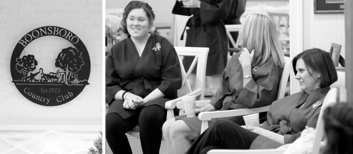The Mother of the Bride is on the far right. I love the look of admiration as she looks on at her daughter being prepped for the ceremony.