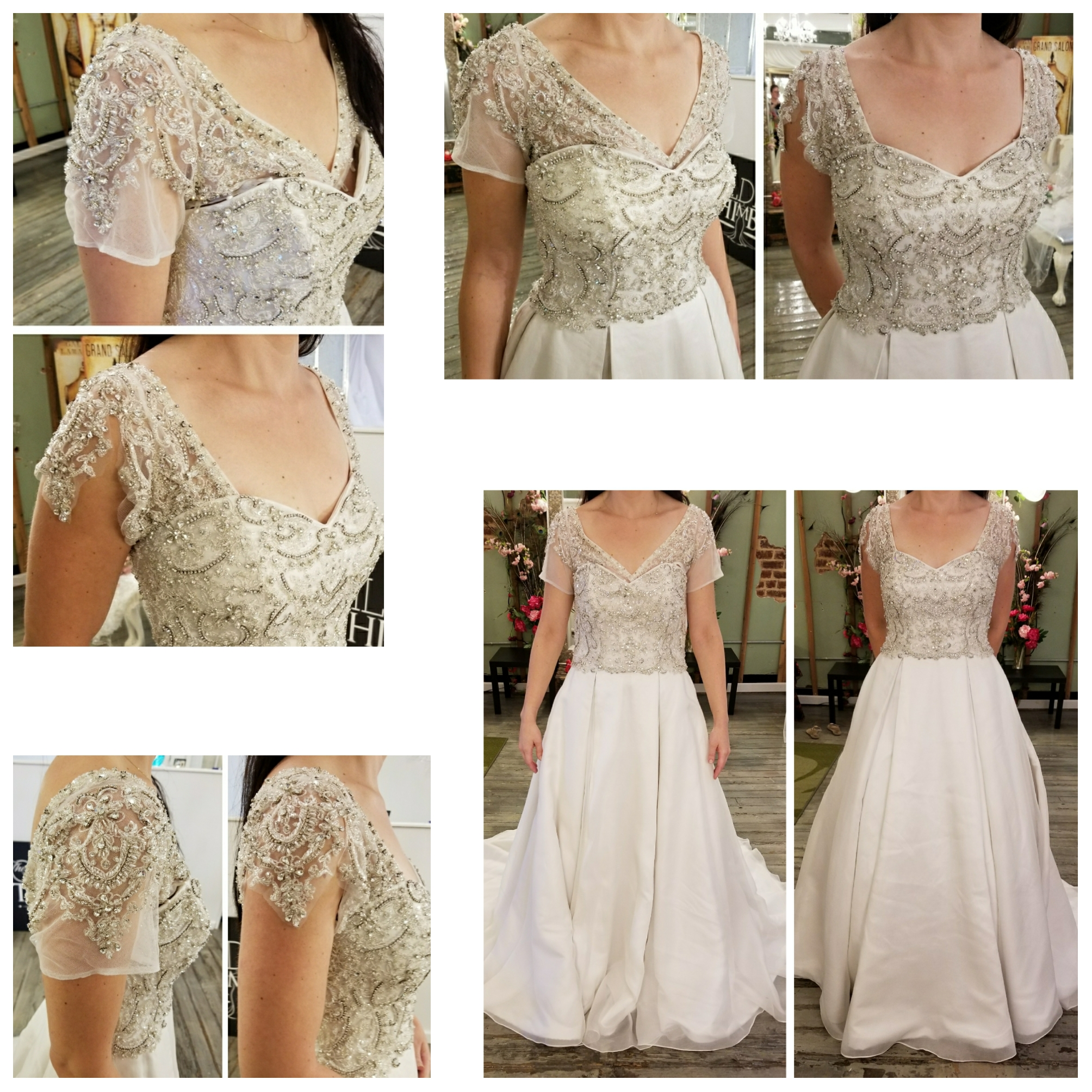 Wedding Gown Alterations Cap Sleeves The Gilded Thimble