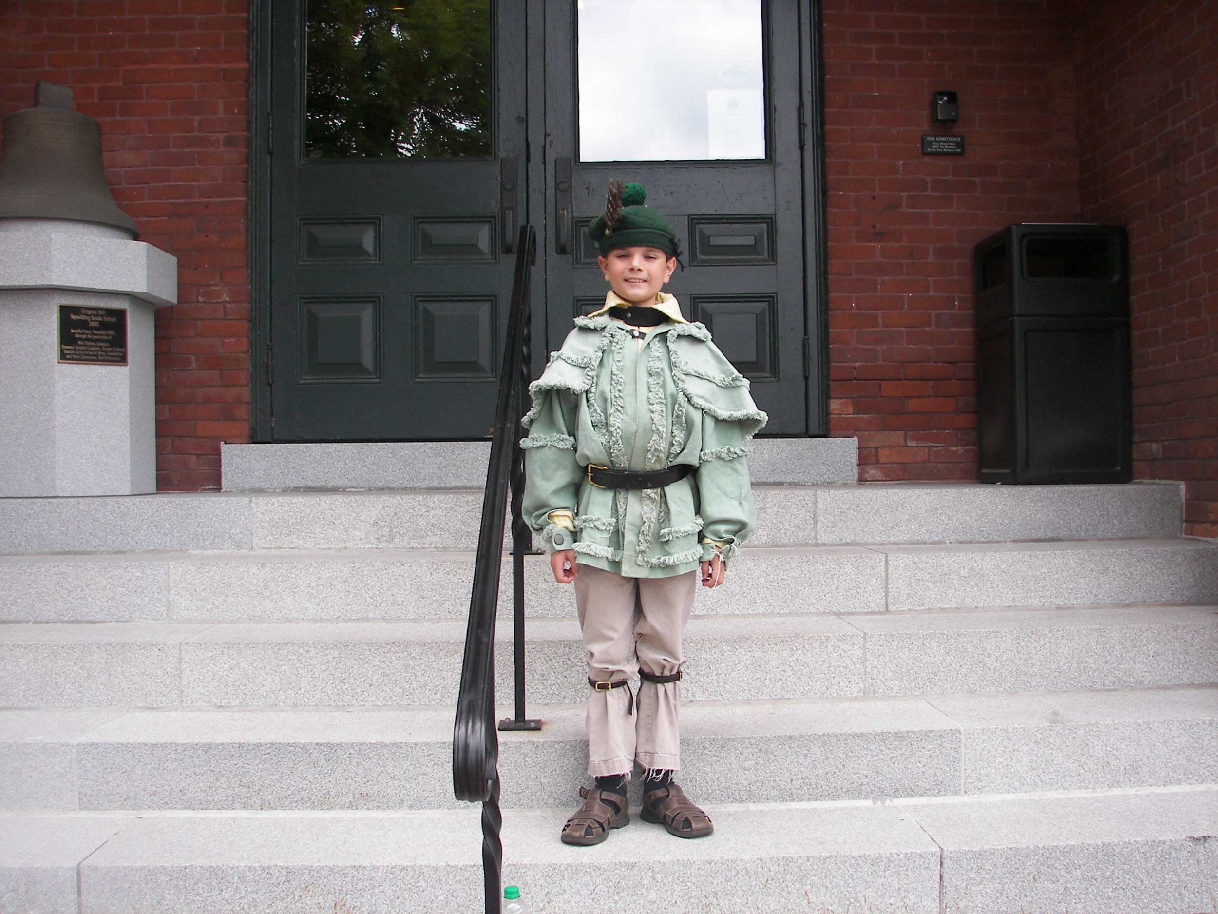Michael White, ready for his first parade - July 2007