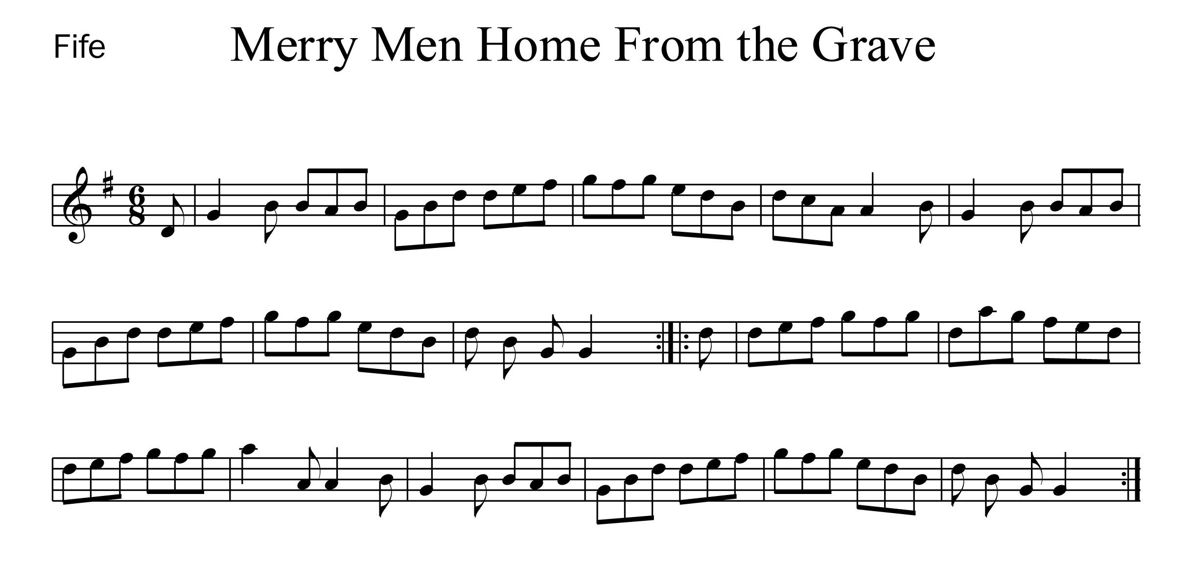 Merry Men Home From the Grave